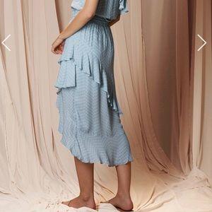 The Jetset Diaries Skirts - The Jetset Diaries Mohea Midi Skirt Blue Polka Dot